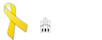 Logo Castelló d'Empúries negatiu amb llaç